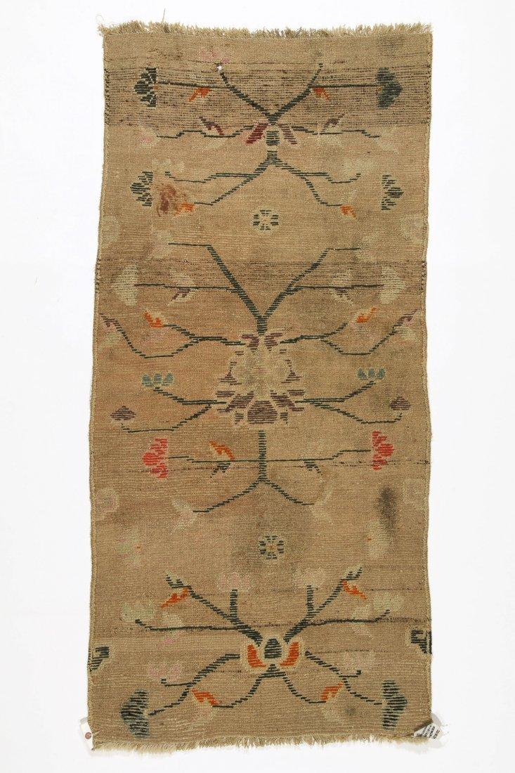 Antique Tibetan Rug: 2'5'' x 5'0'' (74 x 152 cm) - 4