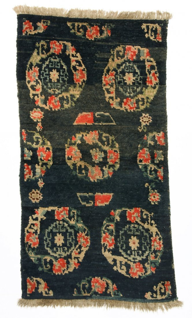 Antique Tibetan Rug: 2'4'' x 4'5'' (71 x 135 cm)