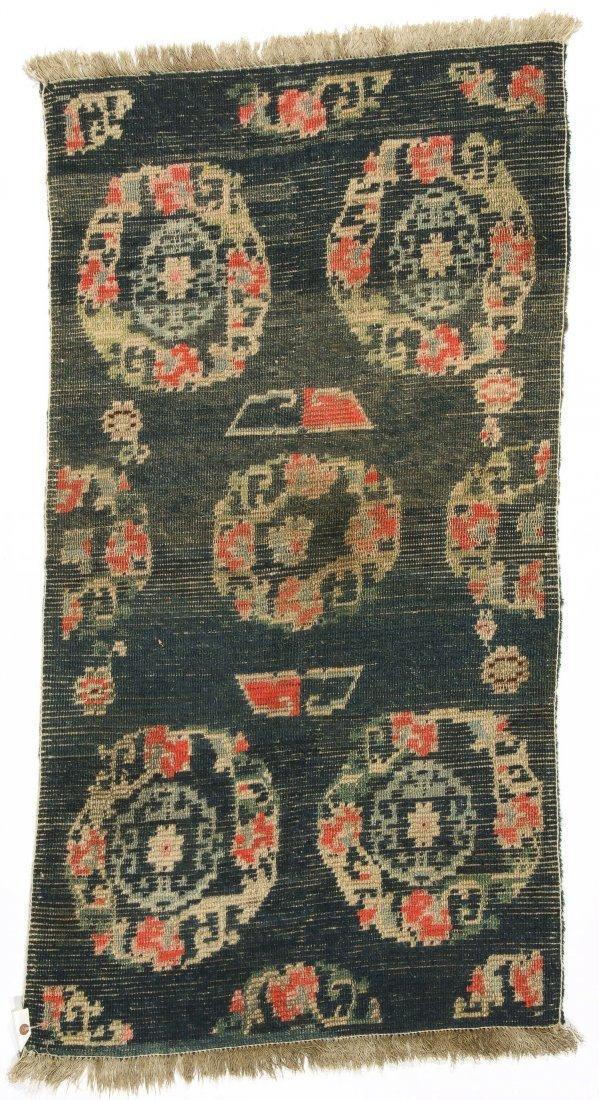 Antique Tibetan Rug: 2'4'' x 4'5'' (71 x 135 cm) - 4