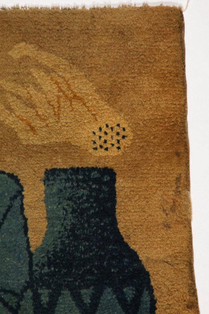 Antique Mongolian Rug: 2'3'' x 4'6'' (69 x 137 cm) - 2