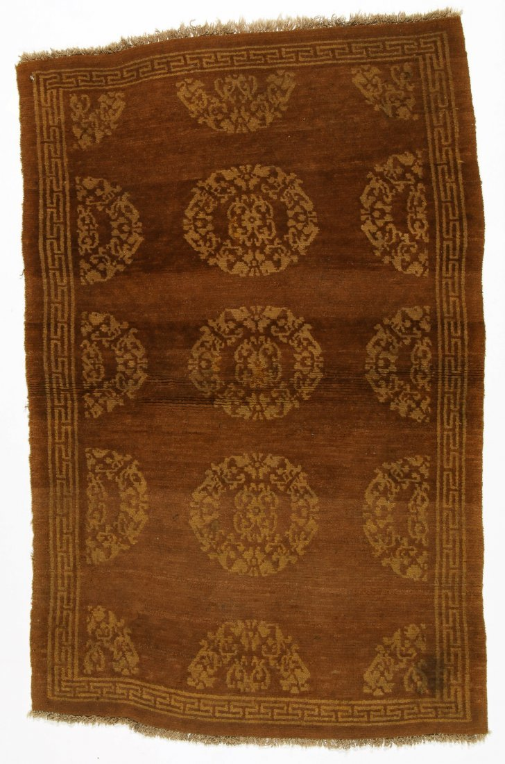 Antique Tibetan Rug: 3'0'' x 4'6'' (91 x 137 cm)
