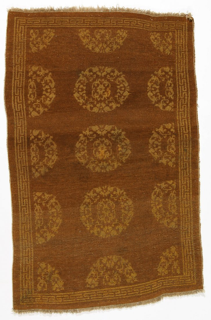 Antique Tibetan Rug: 3'0'' x 4'6'' (91 x 137 cm) - 4