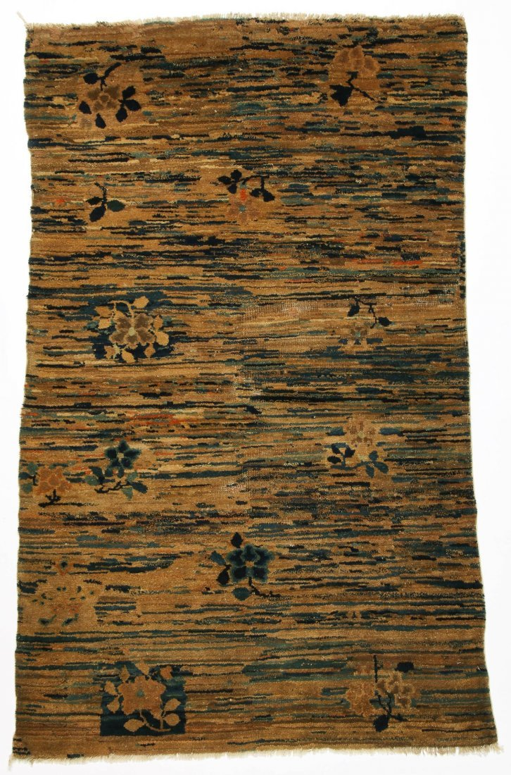 Antique Tibetan Rug: 3'3'' x 5'6'' (99 x 168 cm)