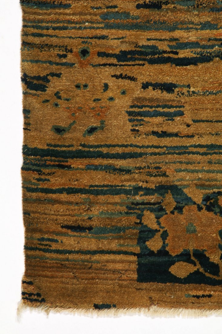 Antique Tibetan Rug: 3'3'' x 5'6'' (99 x 168 cm) - 2