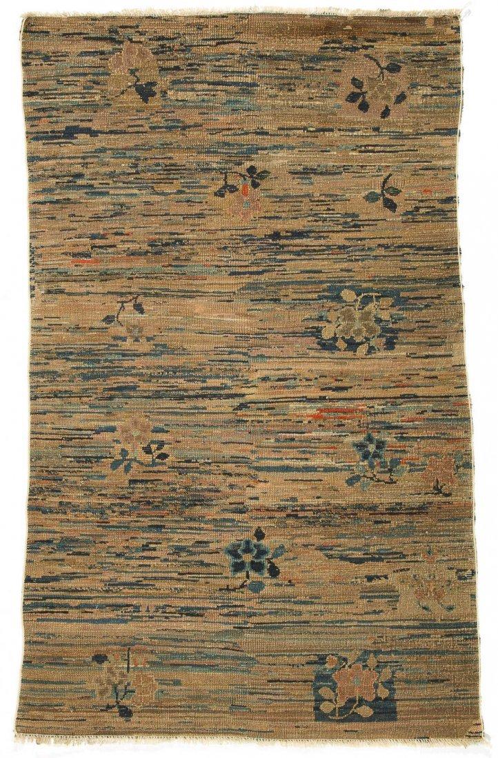 Antique Tibetan Rug: 3'3'' x 5'6'' (99 x 168 cm) - 4