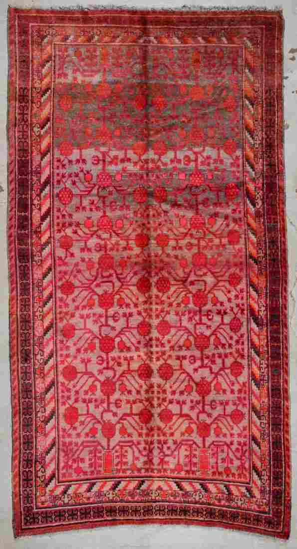 Antique Khotan Rug: 6'0'' x 10'10'' (183 x 330 cm)