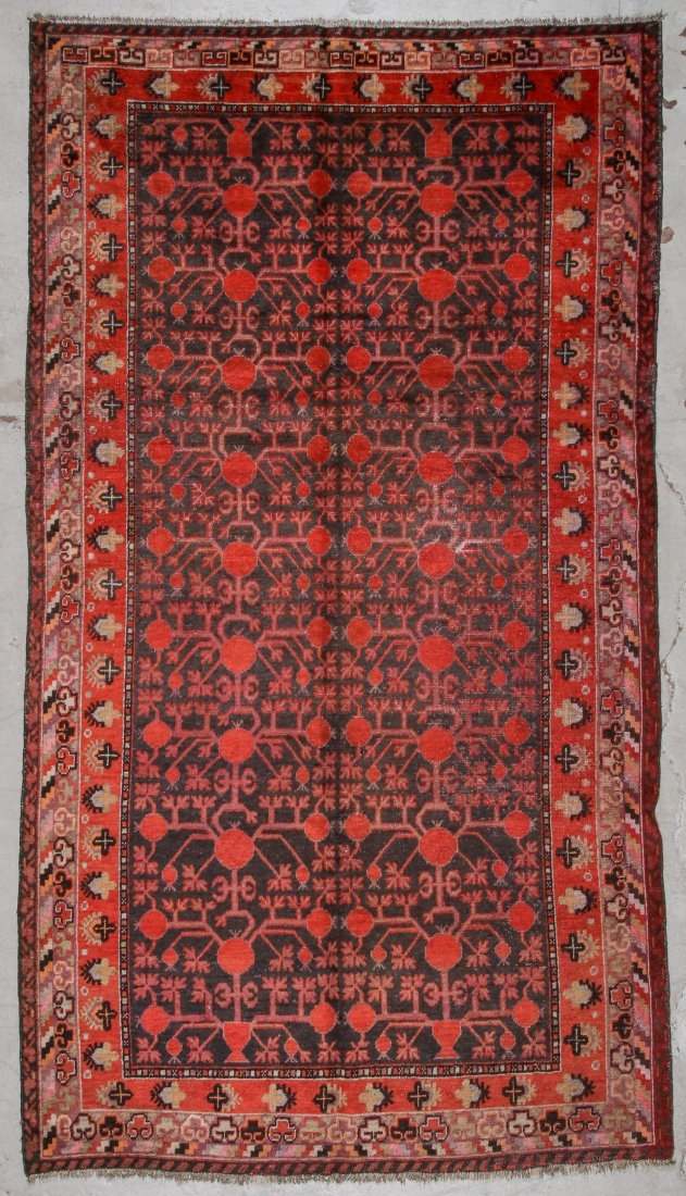 Antique Khotan Rug: 5'4'' x 9'7'' (163 x 292 cm)