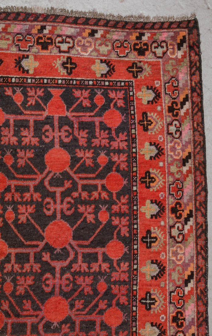Antique Khotan Rug: 5'4'' x 9'7'' (163 x 292 cm) - 2
