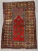Antique Central Anatolian Prayer Rug 49 x 39
