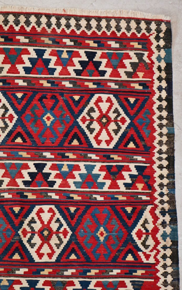 Fine Antique Shahsevan Kilim: 9'5'' x 7'3'' - 2