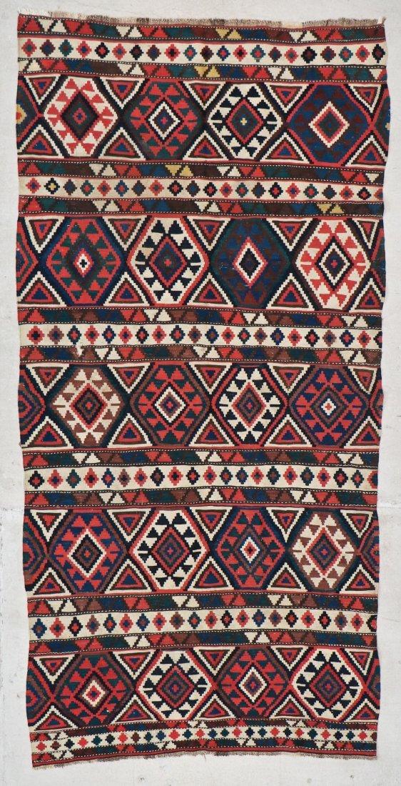 Antique Shirvan Kilim: 10' x 5' (305 x 152 cm)