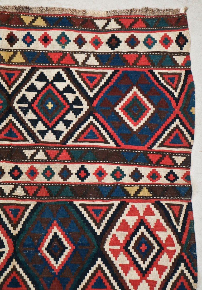 Antique Shirvan Kilim: 10' x 5' (305 x 152 cm) - 2