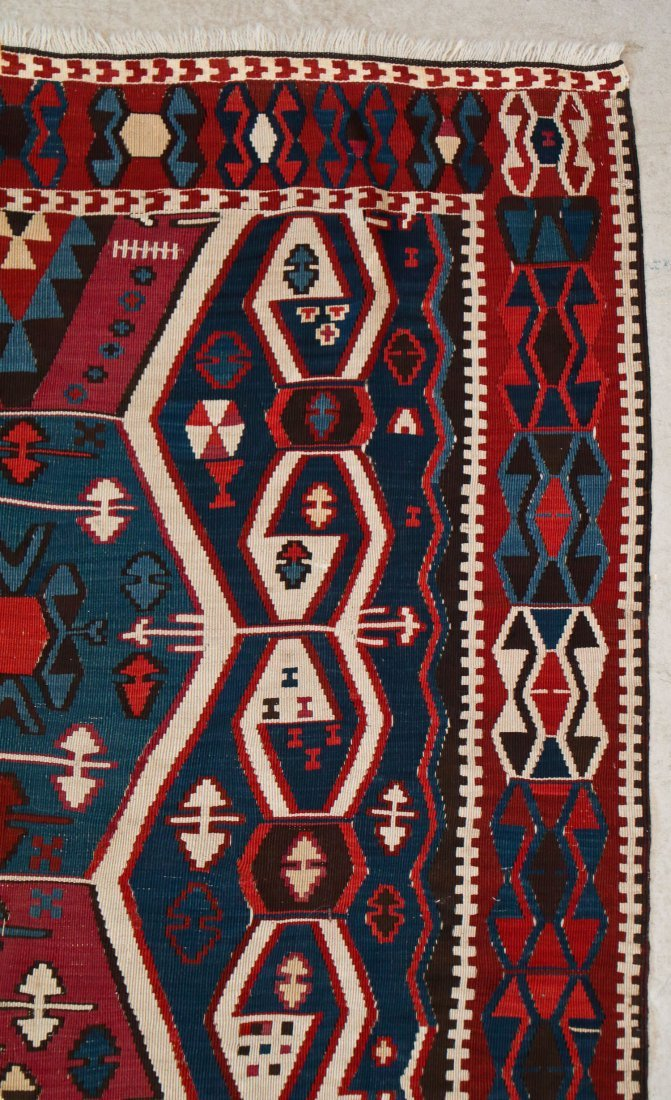 Antique East Anatolian Kilim: 12'1'' x 4' (368 x 122 - 2