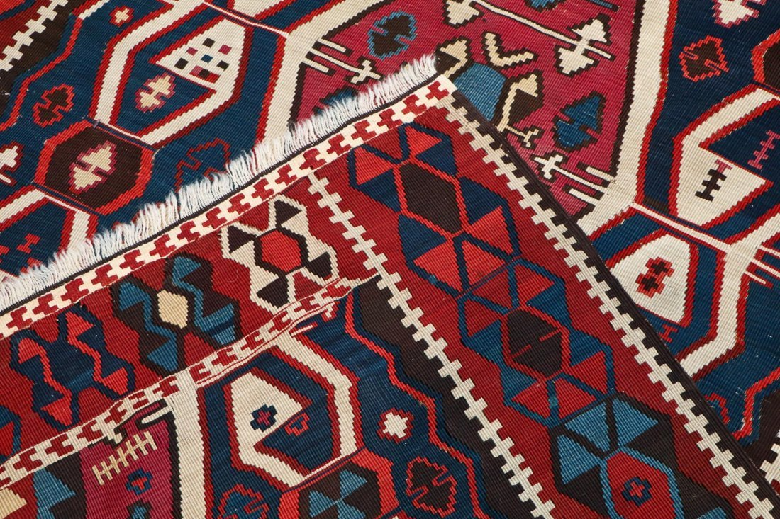 Antique East Anatolian Kilim: 12'1'' x 4' (368 x 122 - 4