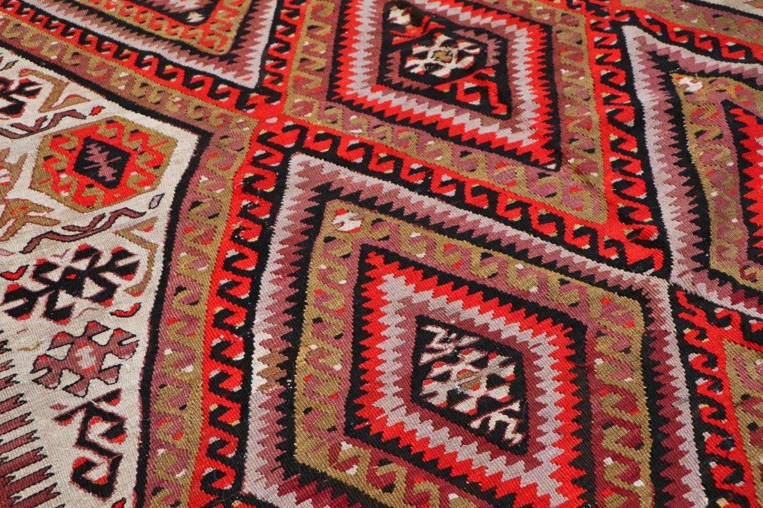 Antique Central Anatolian Kilim: 10'1'' x 5'1'' (307 x - 3