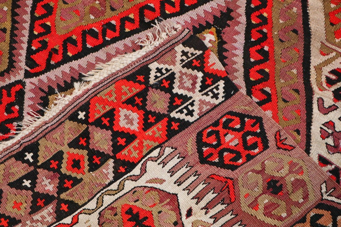 Antique Central Anatolian Kilim: 10'1'' x 5'1'' (307 x - 4