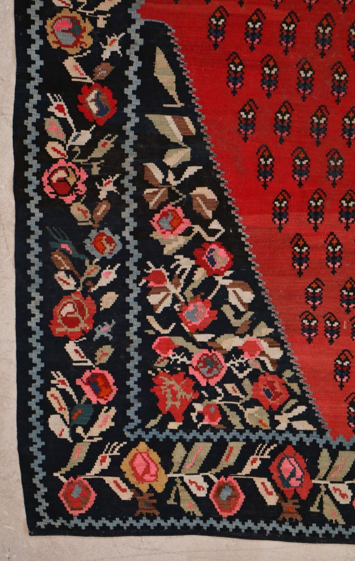"Caucasian Karabagh Kilim Dated ""1949"": 11'7'' x 7'4'' - 3"