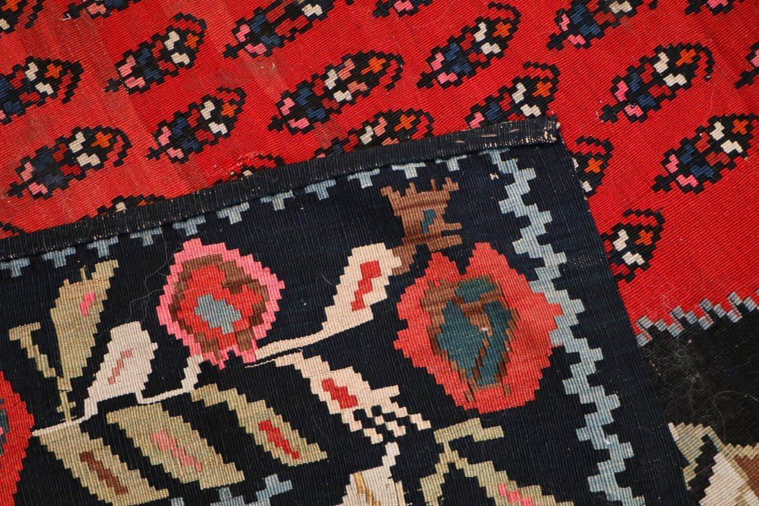"Caucasian Karabagh Kilim Dated ""1949"": 11'7'' x 7'4'' - 5"