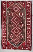 Antique Caucasian Kuba Kilim: 9'10'' x 6'2'' (300 x 188