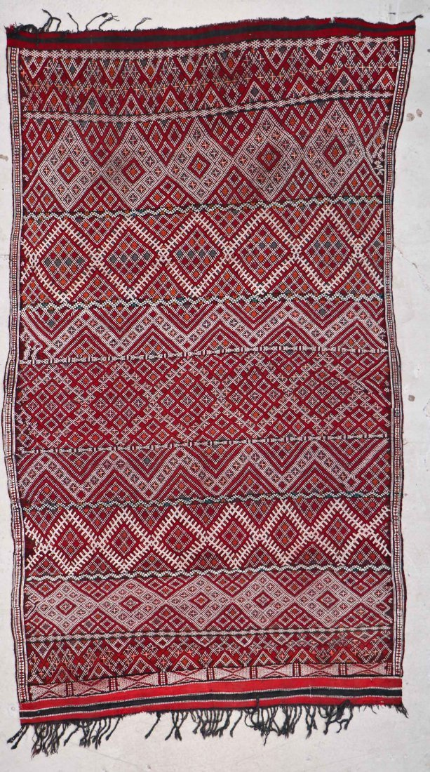 Antique Moroccan Mixed Weave Rug: 8'4'' x 4'10'' (254 x