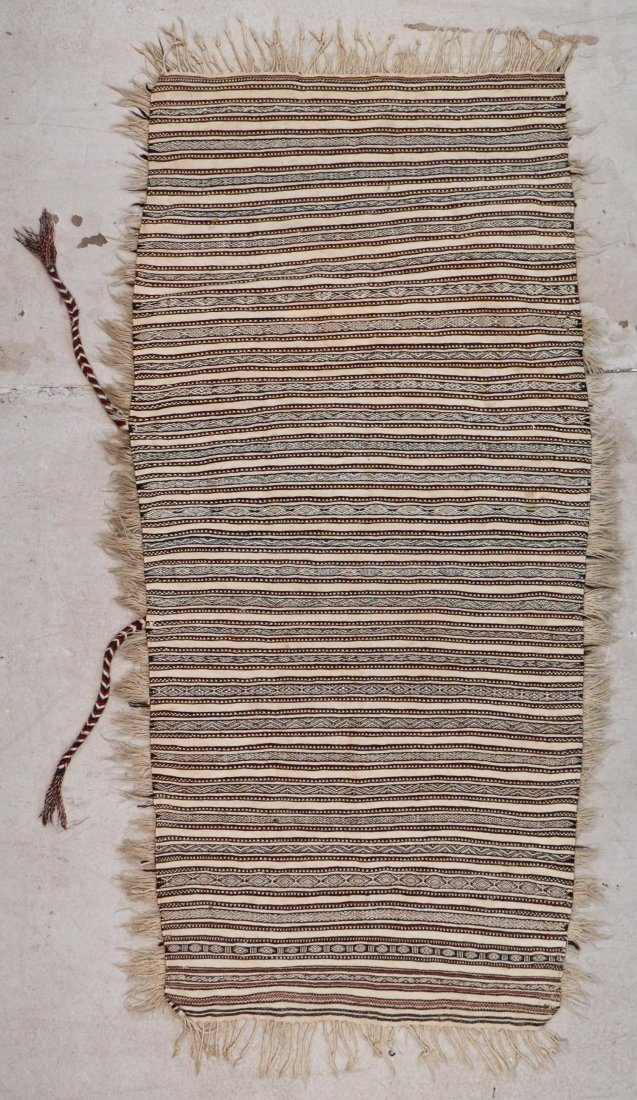 Antique Moroccan Rug: 6'6'' x 2'10'' (198 x 86 cm)