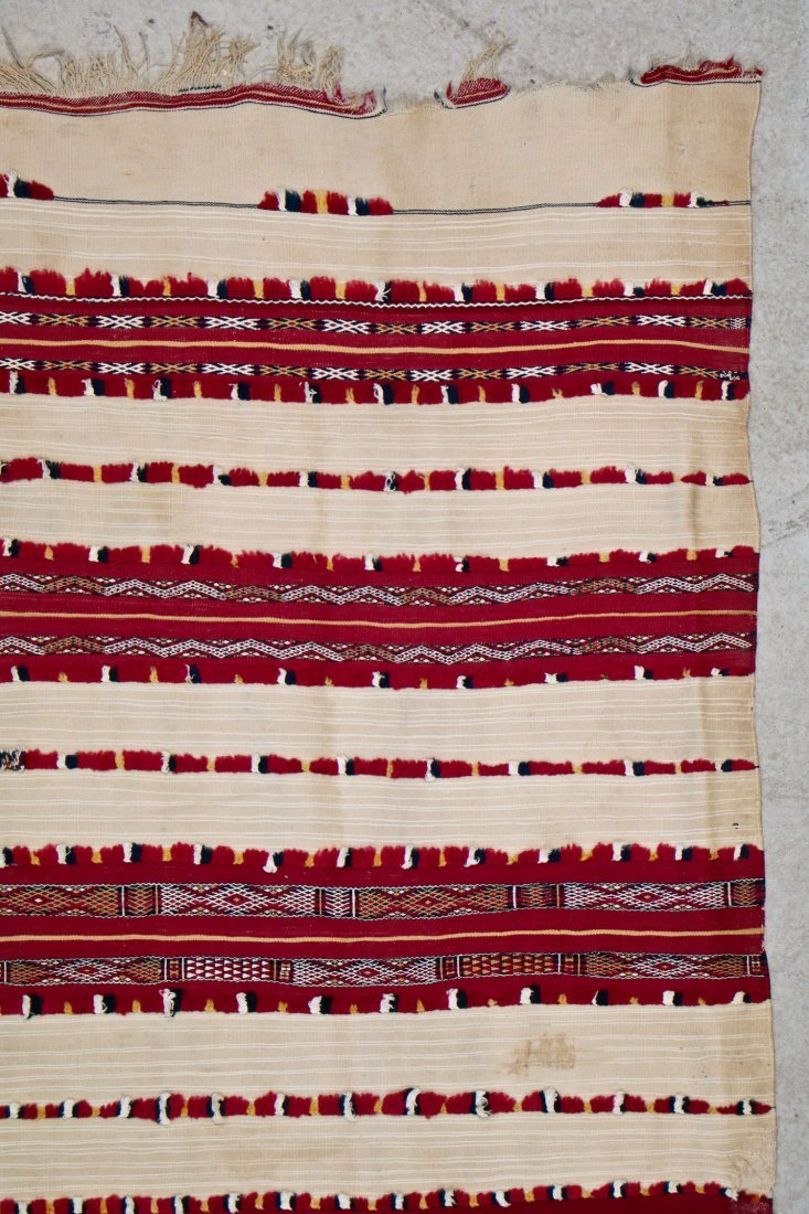 Antique Moroccan Flatweave: 5'10'' x 3'9'' (178 x 114 - 2