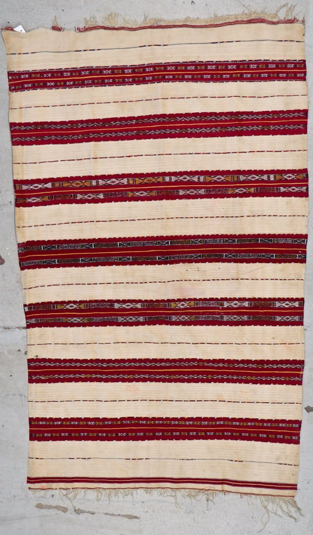 Antique Moroccan Flatweave: 5'10'' x 3'9'' (178 x 114 - 5