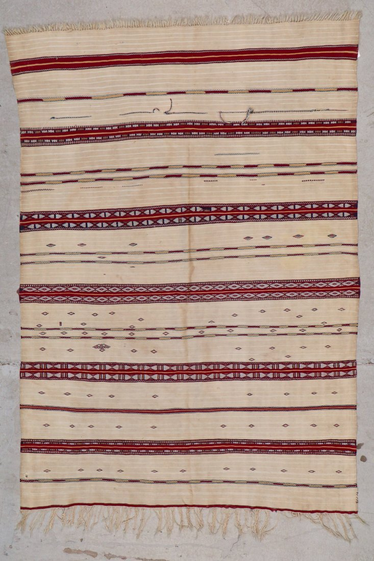 Antique Moroccan Flatweave: 5'10'' x 4' (178 x 122 cm)