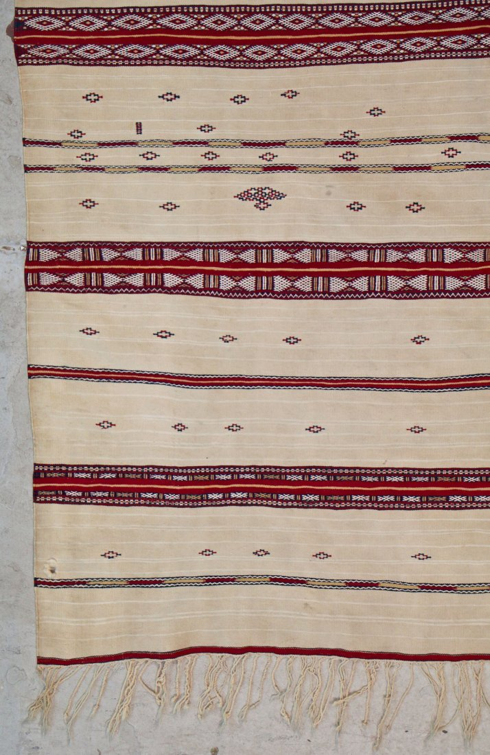 Antique Moroccan Flatweave: 5'10'' x 4' (178 x 122 cm) - 2