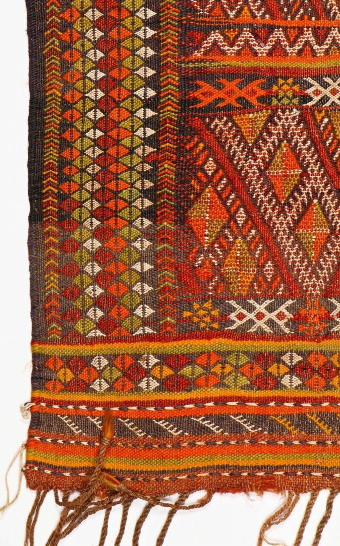 Semi-Antique Moroccan Flatweave: 4'11'' x 3' (150 x 91 - 2