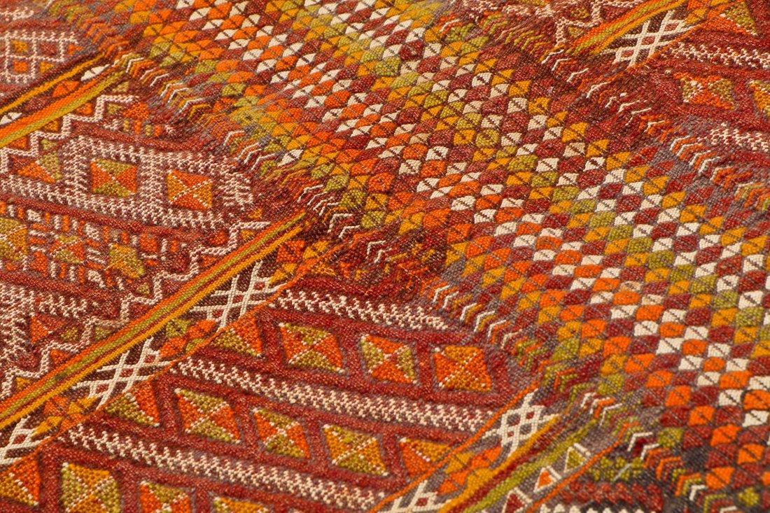 Semi-Antique Moroccan Flatweave: 4'11'' x 3' (150 x 91 - 3