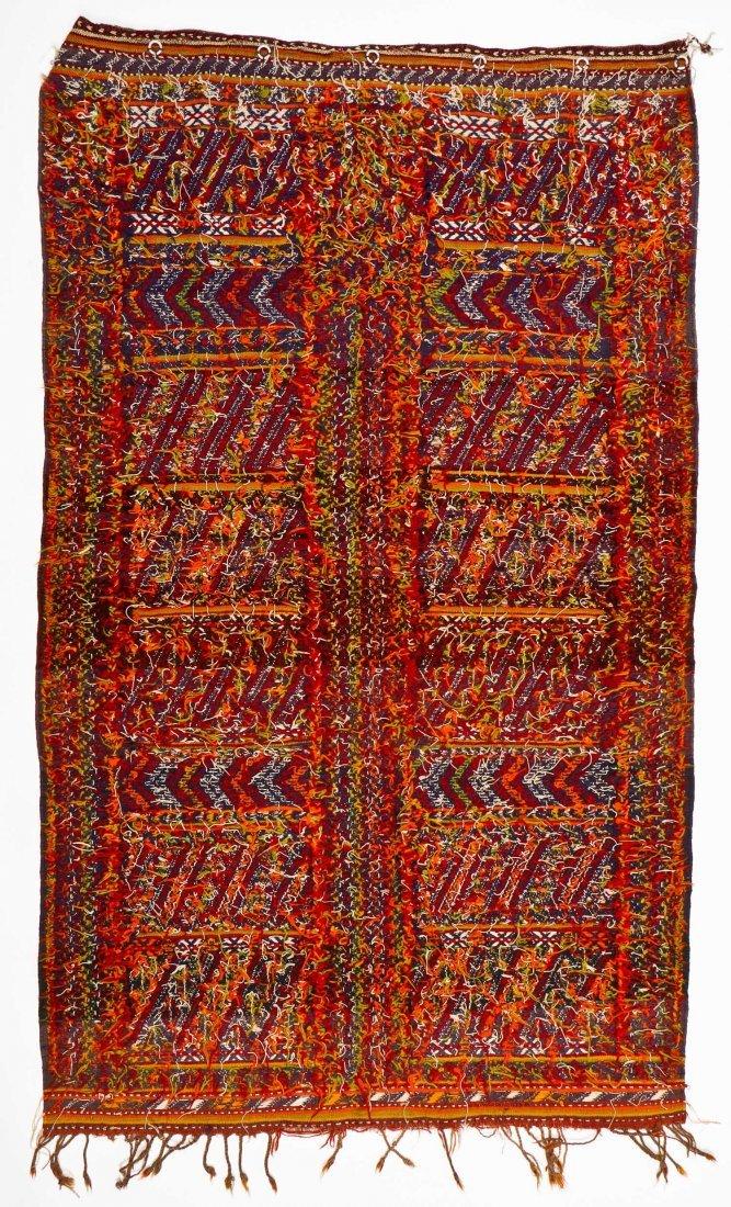 Semi-Antique Moroccan Flatweave: 4'11'' x 3' (150 x 91 - 5