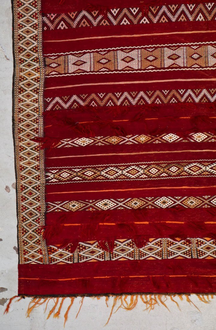 Antique Moroccan Flatweave: 9'10'' x 5'10'' (300 x 178 - 2