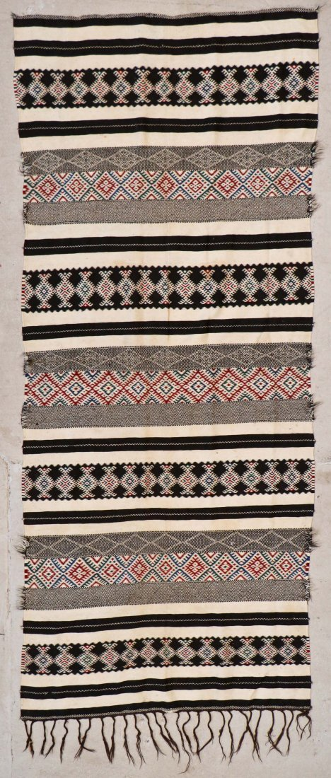 Antique Moroccan Flatweave: 10'11'' x 4'8'' (333 x 142