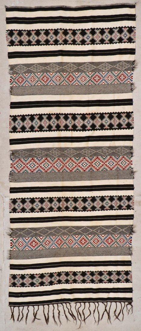 Antique Moroccan Flatweave: 10'11'' x 4'8'' (333 x 142