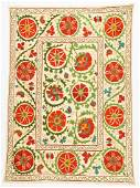 Vintage Central Asian Suzani: 36.5'' x 52.5''