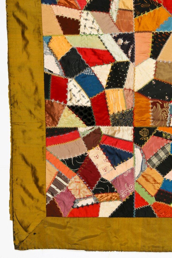 19th C Silk Crazy Quilt - 2