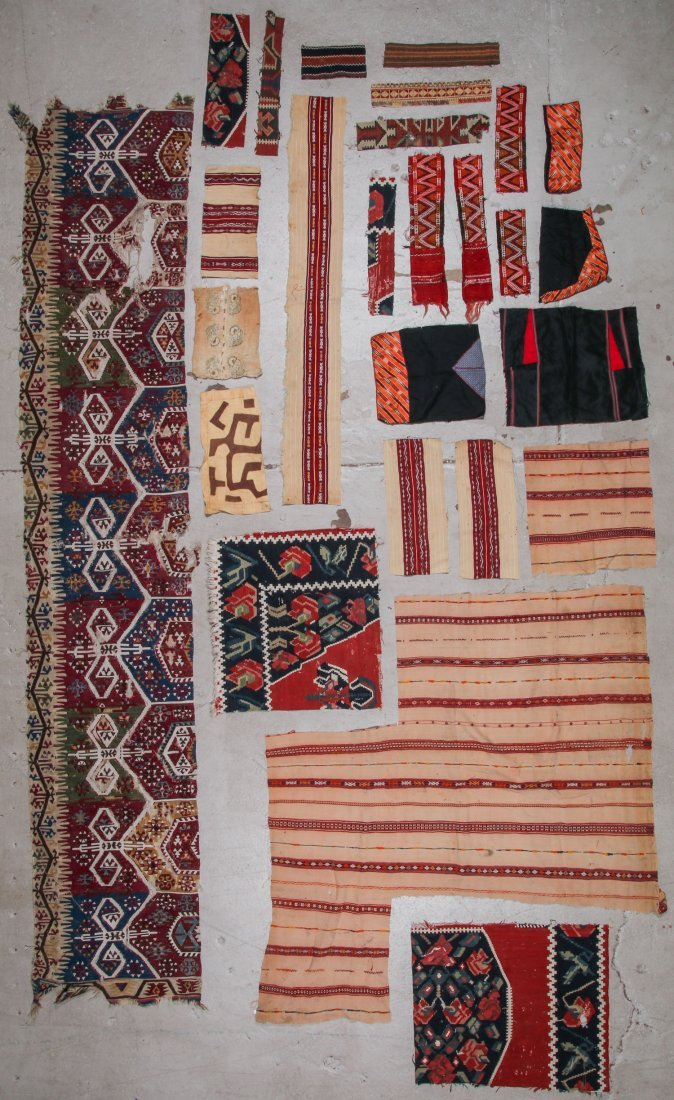 Group of Ethnographic Textile Fragments