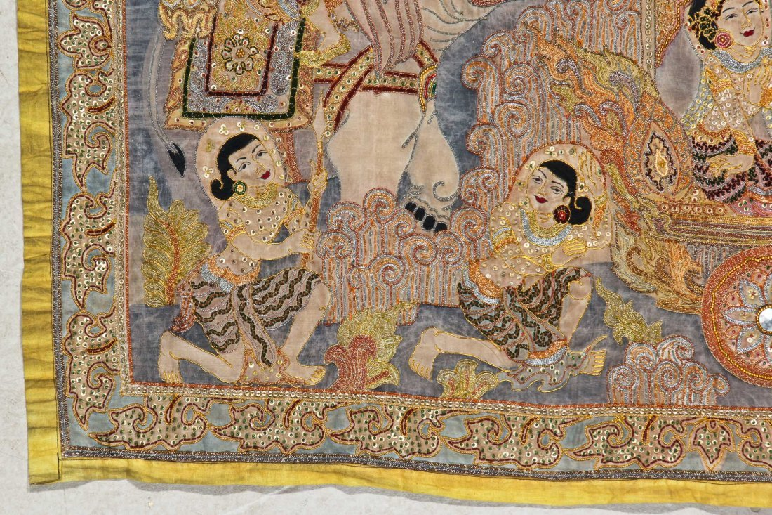Burmese Kalaga Tapestry, Early 20th C - 2