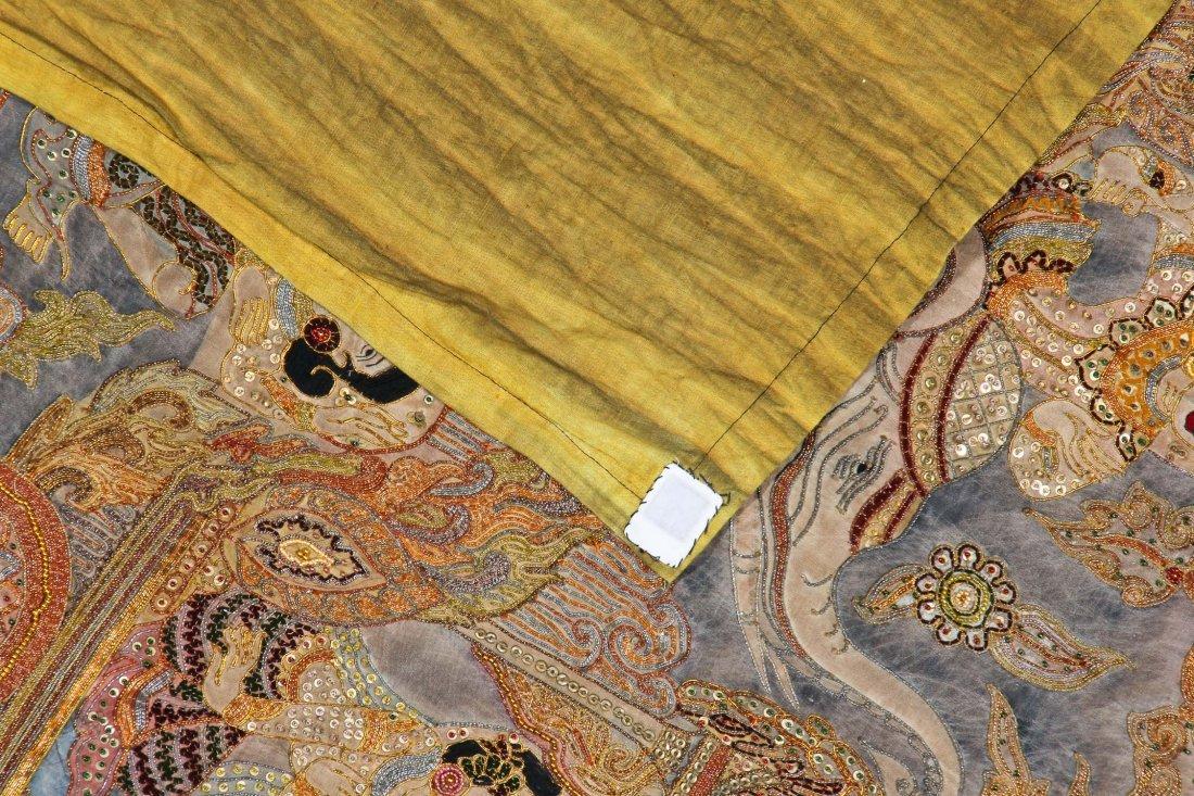 Burmese Kalaga Tapestry, Early 20th C - 4