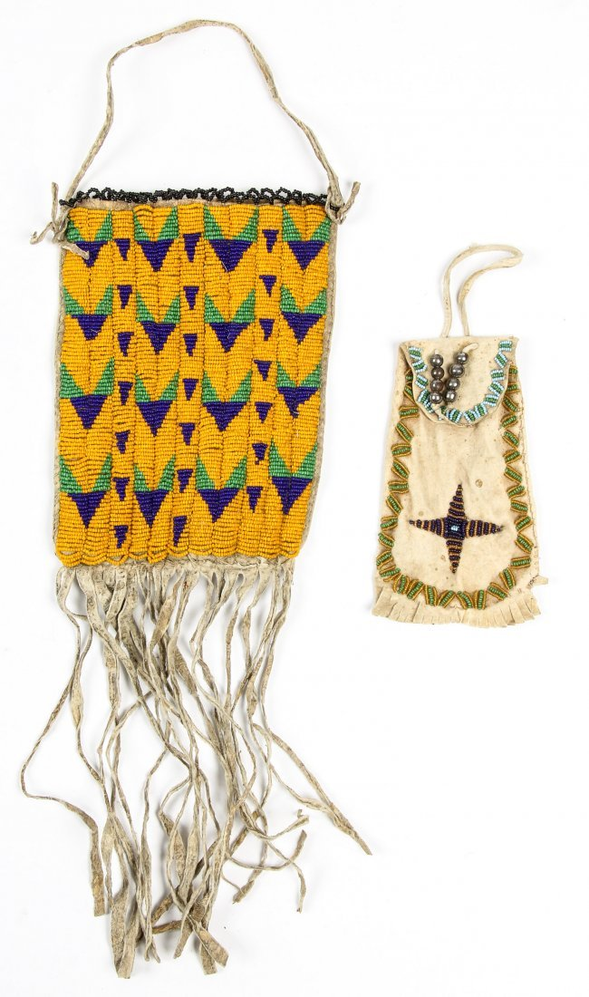 2 Old Native American Beaded and Embellished Bags