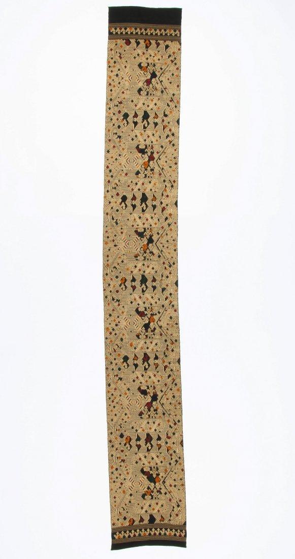 Antique Finely Woven Lao Silk Textile