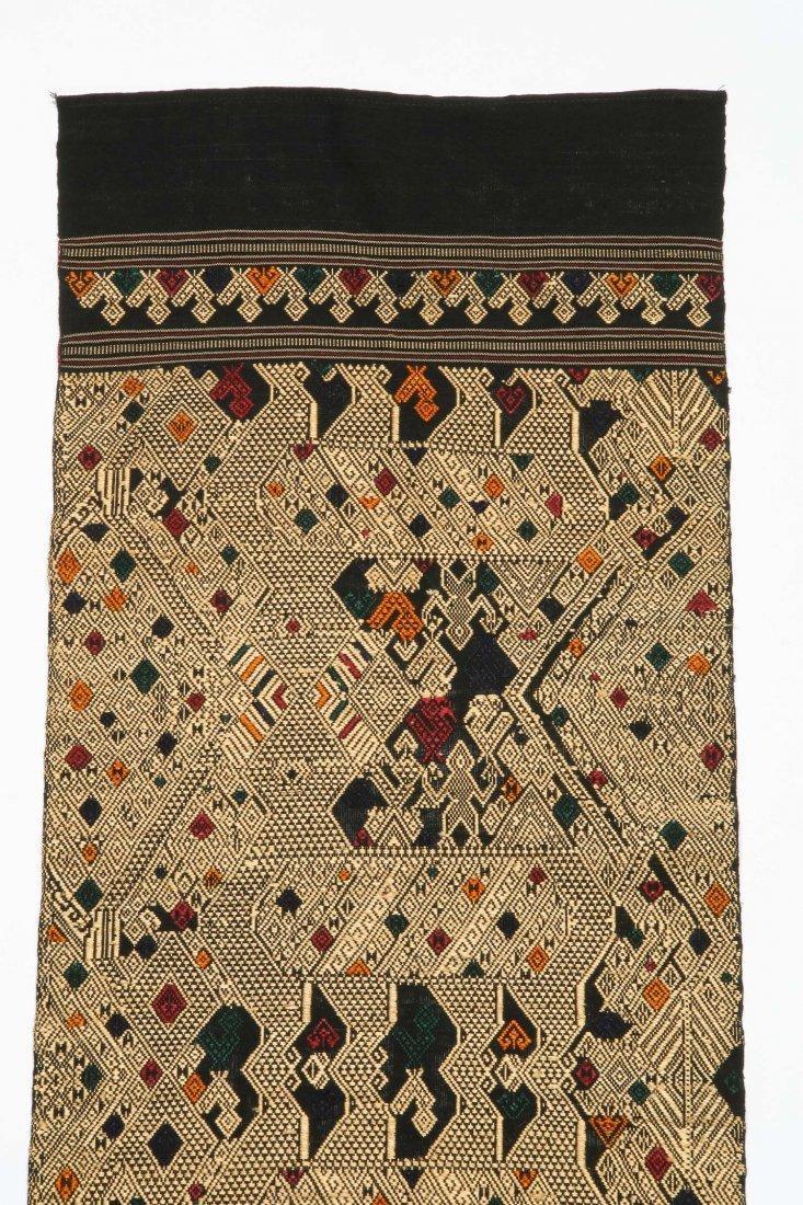 Antique Finely Woven Lao Silk Textile - 2