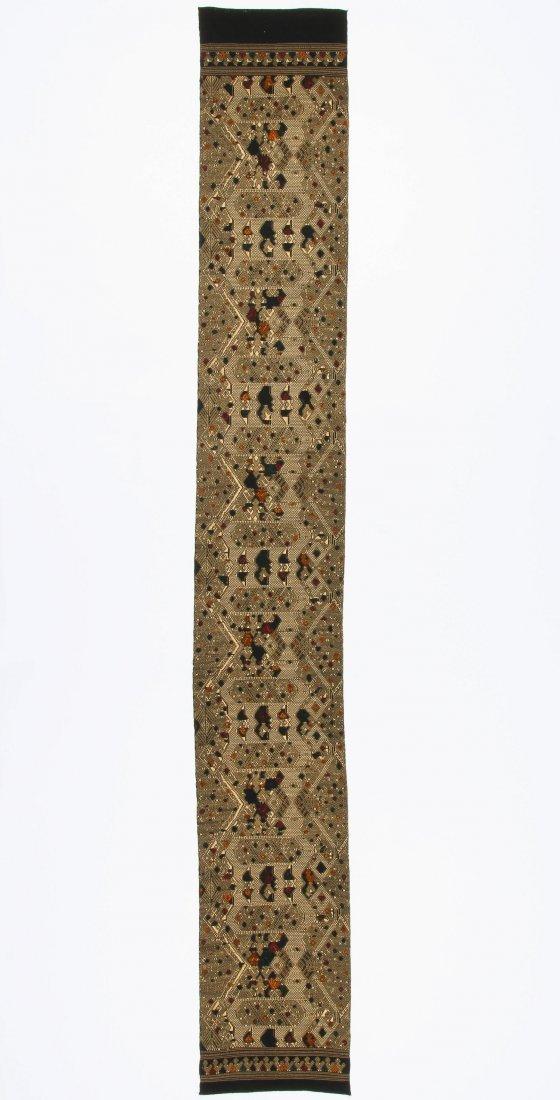 Antique Finely Woven Lao Silk Textile - 3