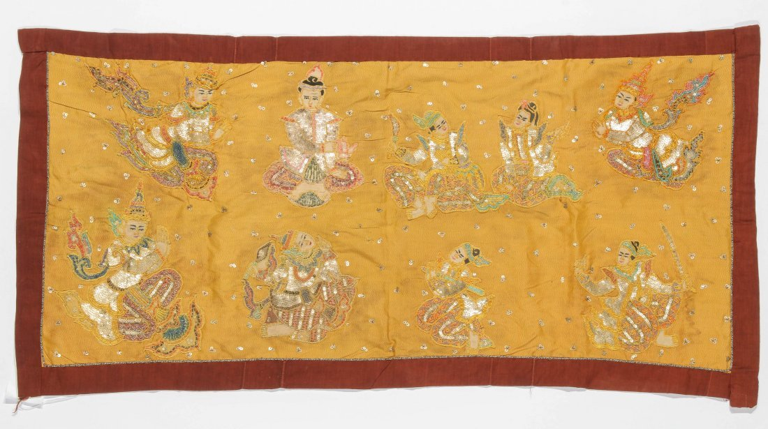 Old Burmese Embroidered Sequined Kalaga