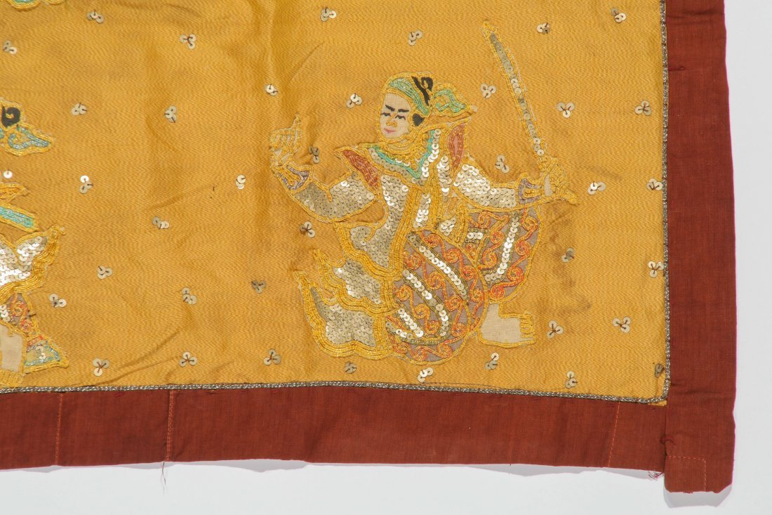 Old Burmese Embroidered Sequined Kalaga - 2