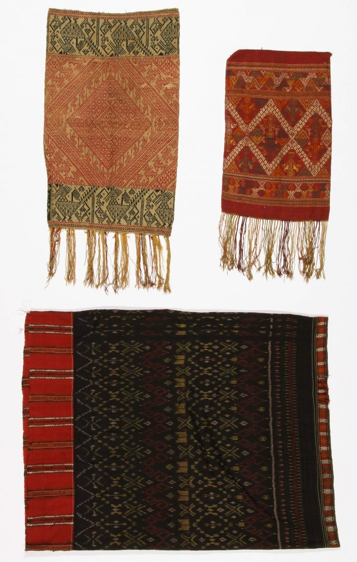 3 Old Lao Textiles, Laos - 5