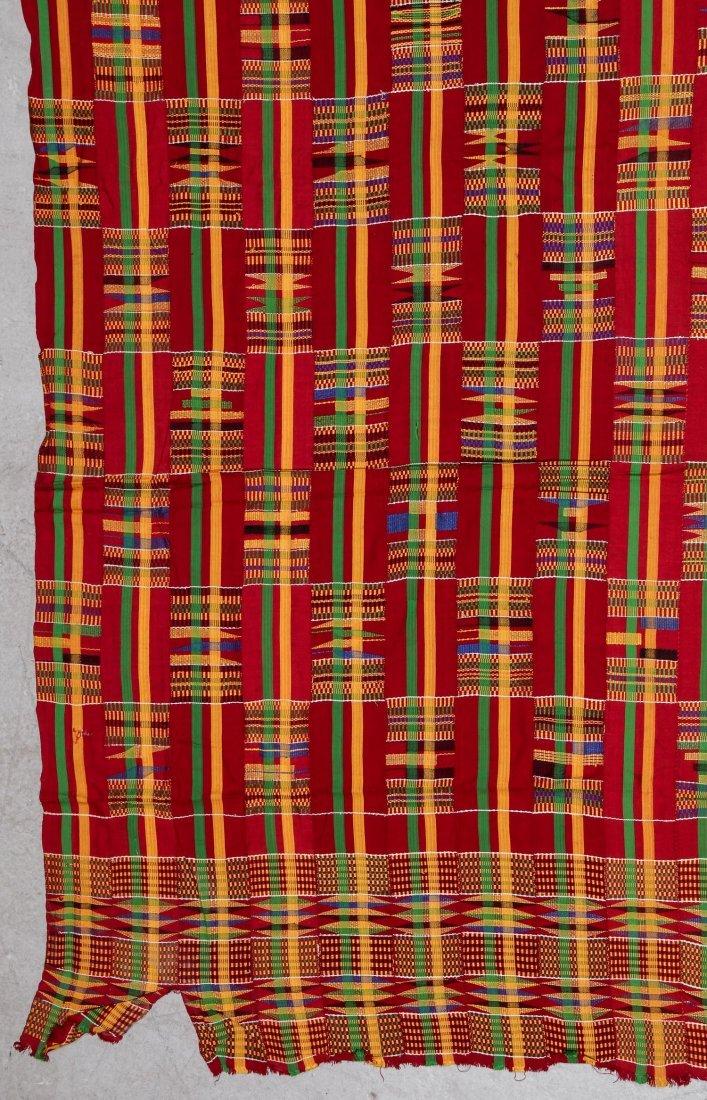 Large Old Kente Cloth: 87'' x 125'' - 2