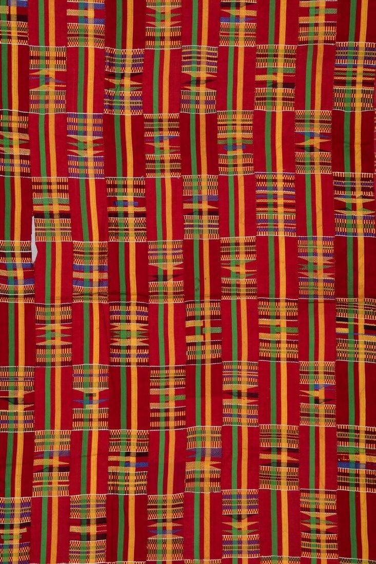 Large Old Kente Cloth: 87'' x 125'' - 3