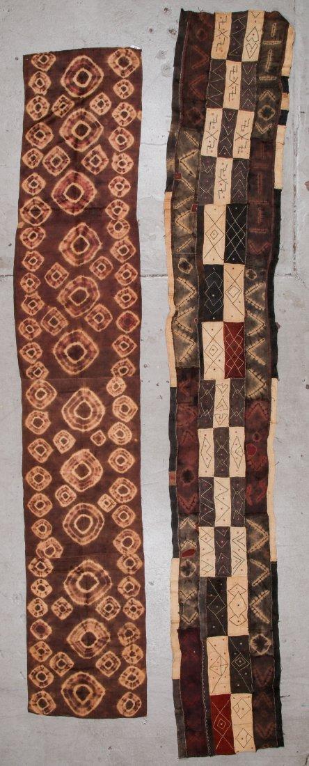 2 Old Kuba Raffia Textiles, DRC